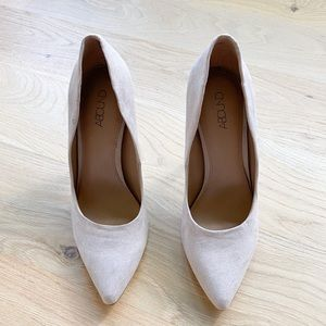 ABOUND nude pink pointed toe faux suede new pumps